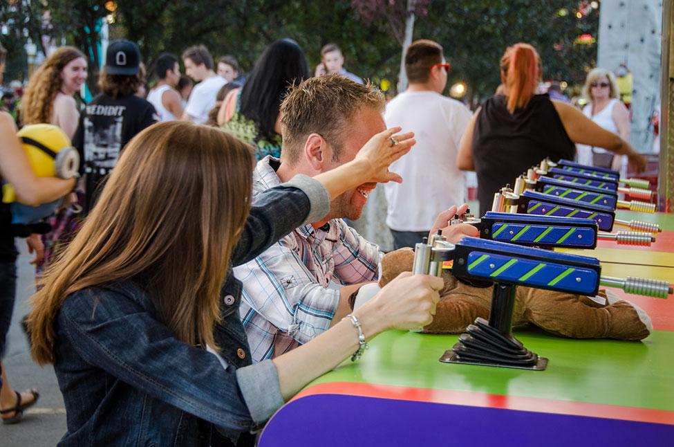 Sunset Amusement Park Engagement At Alberta