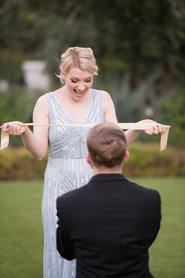 Black Tie Surprise Proposal Cinderella Wedding | Photograph by Ryan & Denise Photography https://storyboardwedding.com/black-tie-surprise-proposal-cinderella-wedding/