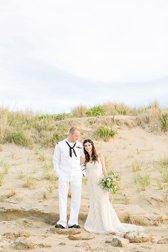 Military Infused Memorial Day Beach Wedding Along The Virginia Coastline | Photograph by Macon Photography  http://storyboardwedding.com/military-memorial-day-beach-wedding-virgina/