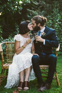 Bohemian Chic Backyard Garden Wedding With Vintage Detailing