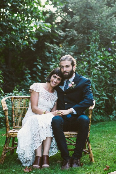 Bohemian Chic Backyard Garden Wedding With Vintage Detailing | Photograph by Suzuran Photography & Styling by McPherson Events & Design