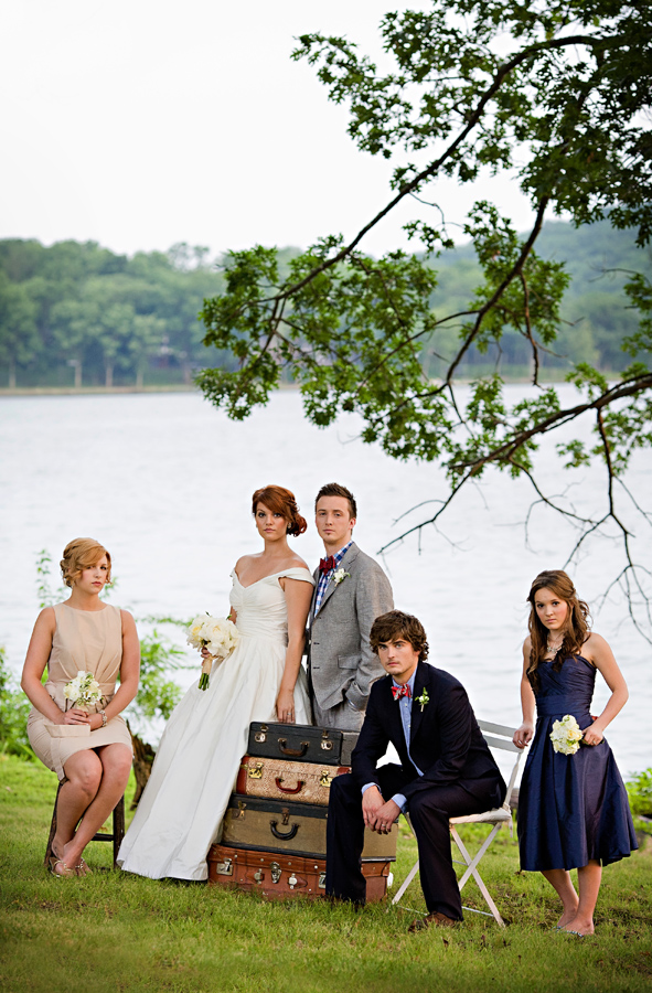 Preppy-Vintage-Bridal-Party
