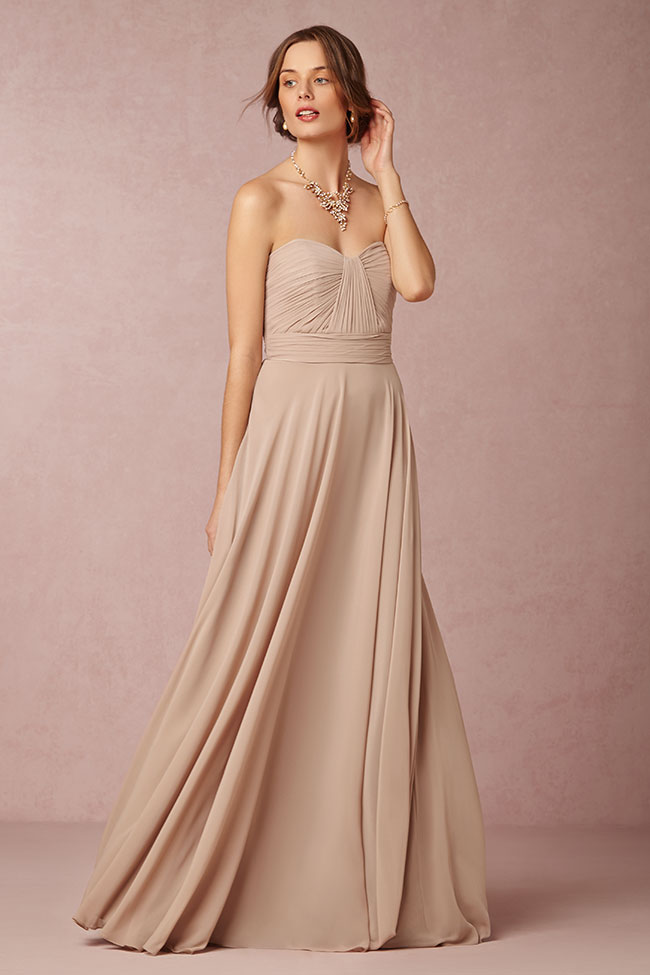 BHLDN Bridesmaid Dresses In A Bevy Of Hues  See the Full Collection at https://storyboardwedding.com/bhldn-bridesmaid-dresses/