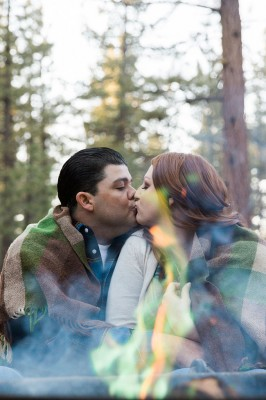 Outdoor Summer California Camping Engagement Session