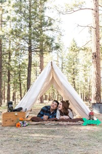 California Loving Camp Engagement Session Among The Pines