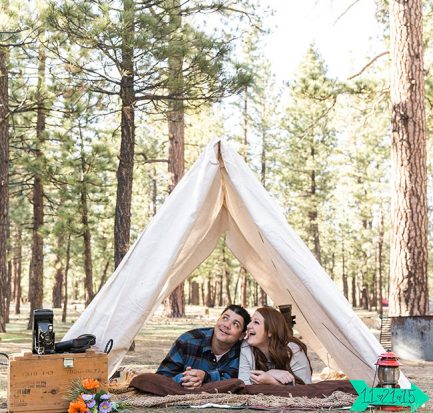 Outdoor Summer California Camping Engagement Session Jennifer Corbin Photography