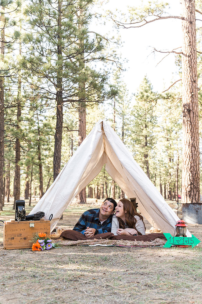 California Loving Camp Engagement Session Among The Pines | Photograph Jennifer Corbin Photography  See The Full Story At http://storyboardwedding.com/california-camp-engagement-session/