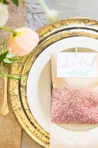 Gorgeously Styled Glamour Table Setting Infused With Metallic Goodness