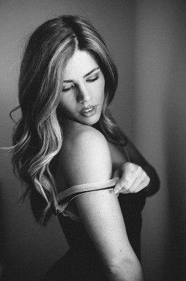 Beautifully Moody Black And White Boudoir | Photograph by Kel Ward Photography  See The Full Story At http://storyboardwedding.com/moody-black-and-white-boudoir/