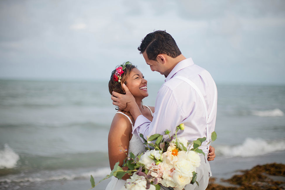 Easy Breezy Destination Wedding For A South Florida Miami Beach Elopement | Photograph by Samantha Clarke Photography  See The Full Story At https://storyboardwedding.com/destination-wedding-south-florida-miami-beach-elopement/