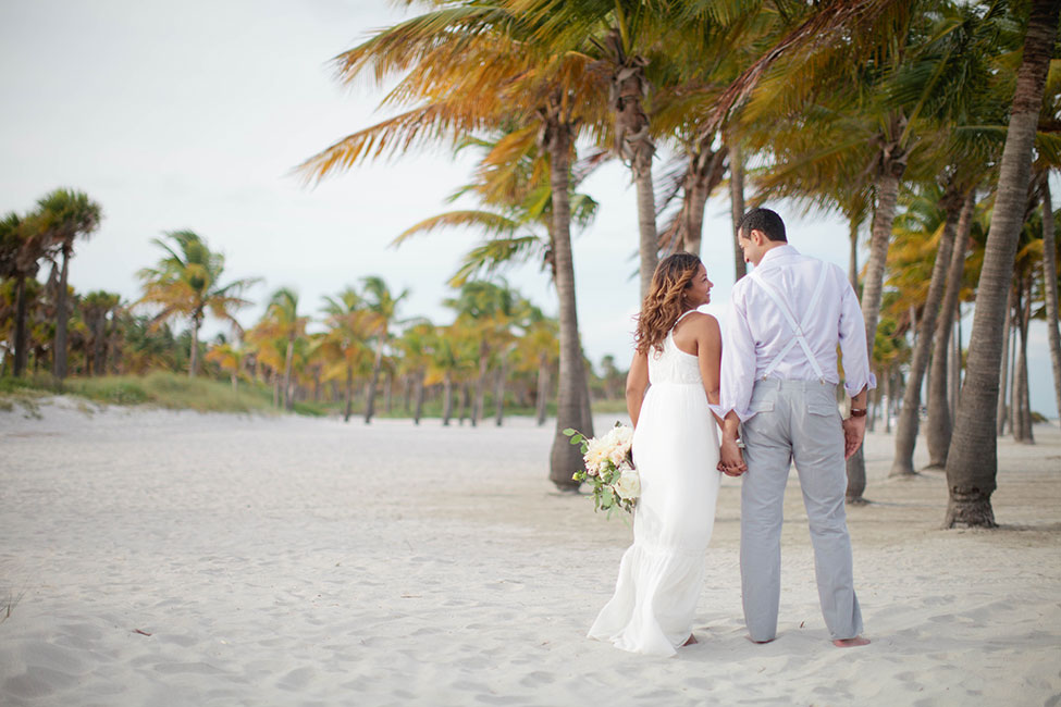 Easy Breezy Destination Wedding For A South Florida Miami Beach Elopement | Photograph by Samantha Clarke Photography  See The Full Story At http://storyboardwedding.com/destination-wedding-south-florida-miami-beach-elopement/