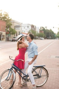 East Aurora Downtown Vintage Bike Engagement Session