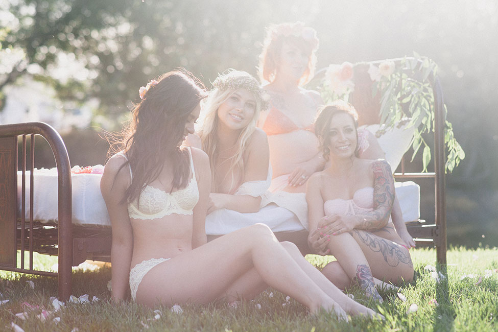 Fresh & Wonderfully Whimsical Outdoor Boudoir Bachelorette Party | Photograph by Alexandra Wallace  See The Full Story At https://storyboardwedding.com/whimsical-outdoor-boudoir-bachelorette-party/