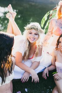 Fresh & Wonderfully Whimsical Outdoor Boudoir Bachelorette Party