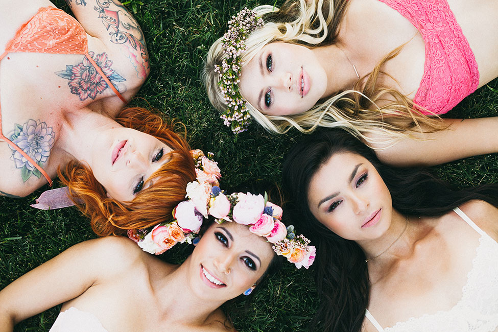 Fresh & Wonderfully Whimsical Outdoor Boudoir Bachelorette Party | Photograph by Alexandra Wallace  See The Full Story At http://storyboardwedding.com/whimsical-outdoor-boudoir-bachelorette-party/