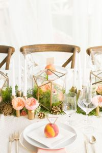 A Modern Geometric Wedding With Vintage Detailing & Rustic Touches