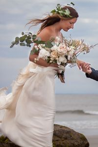 Beautifully Moody Stormy Summer Beach Wedding