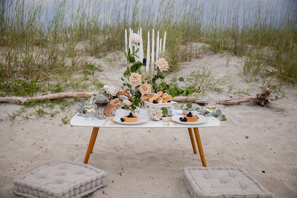 Beautifully Moody Stormy Summer Beach Wedding | Photograph by Obscura Photoworks  See The Full Story At https://storyboardwedding.com/moody-stormy-summer-beach-wedding/