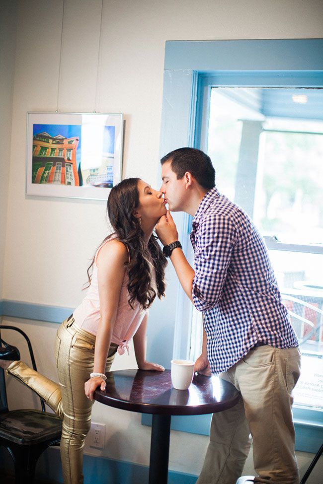 Summer Sweet Coffee Shop Engagement At EQ Heights In Texas | Photograph by Civic Photos  See The Full Story At http://storyboardwedding.com/summer-coffee-shop-engagement-eq-heights-texas/