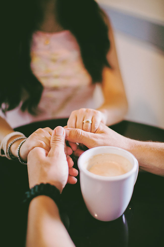 Summer Sweet Coffee Shop Engagement At EQ Heights In Texas | Photograph by Civic Photos  See The Full Story At https://storyboardwedding.com/summer-coffee-shop-engagement-eq-heights-texas/
