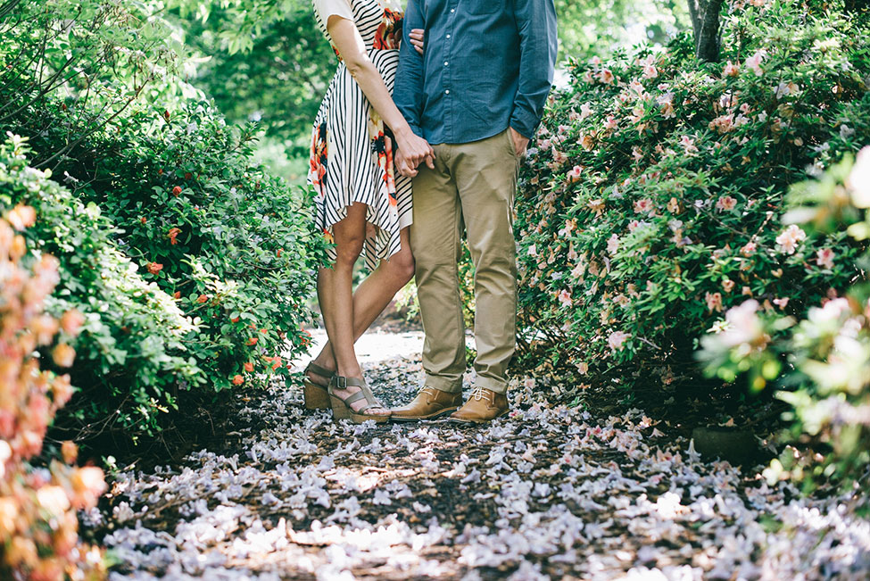 Dallas Arboretum and Botanical Garden Engagement Featuring Gorgeous Foxglove Groves | Photograph by blue elephant photography  See The Full Story At https://storyboardwedding.com/dallas-arboretum-botanical-garden-engagement/