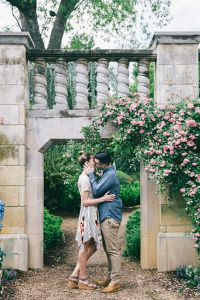 Dallas Arboretum and Botanical Garden Engagement Featuring Gorgeous Fo...