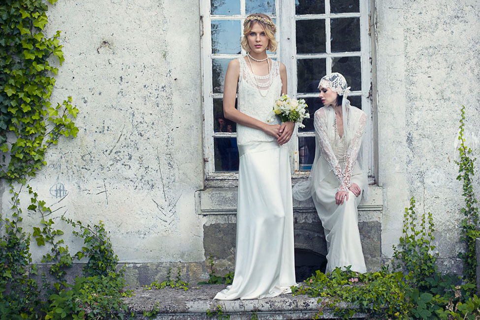 Vintage Chic Bridal Fashion In The Secret Garden Like French Countryside | Photograph by WeddingLight Photography  See The Full Story At http://storyboardwedding.com/vintage-chic-bridal-fashion-french-countryside/