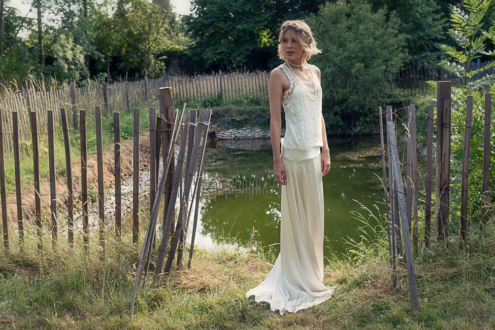 Vintage Chic Bridal Fashion In The Secret Garden Like French Countryside | Photograph by WeddingLight Photography  See The Full Story At https://storyboardwedding.com/vintage-chic-bridal-fashion-french-countryside/
