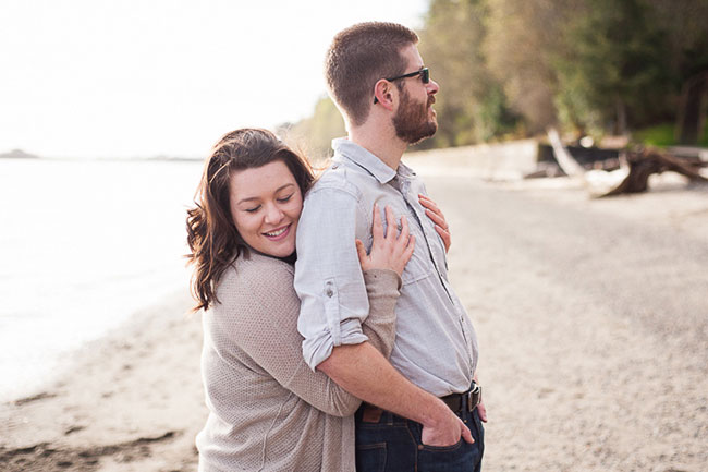 Pacific Northwest Point Defiance Ferry Engagement With Special Furry Guest | Photograph by Autumn L. Rudolph Photography  See The Full Story At