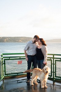 Pacific Northwest Point Defiance Ferry Engagement With Special Furry G...