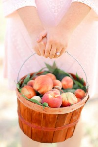 Sweet Summer Peach Orchard Engagement At The Venue At Orchard Farms In...