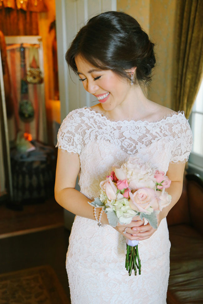 Wonderfully Sweet Romantic Glamour Garden Wedding At The Sepulveda Home | Photograph by Elizabeth Burgi Photography  See The Full Story At  https://storyboardwedding.com/romantic-glamour-garden-wedding-sepulveda-home/