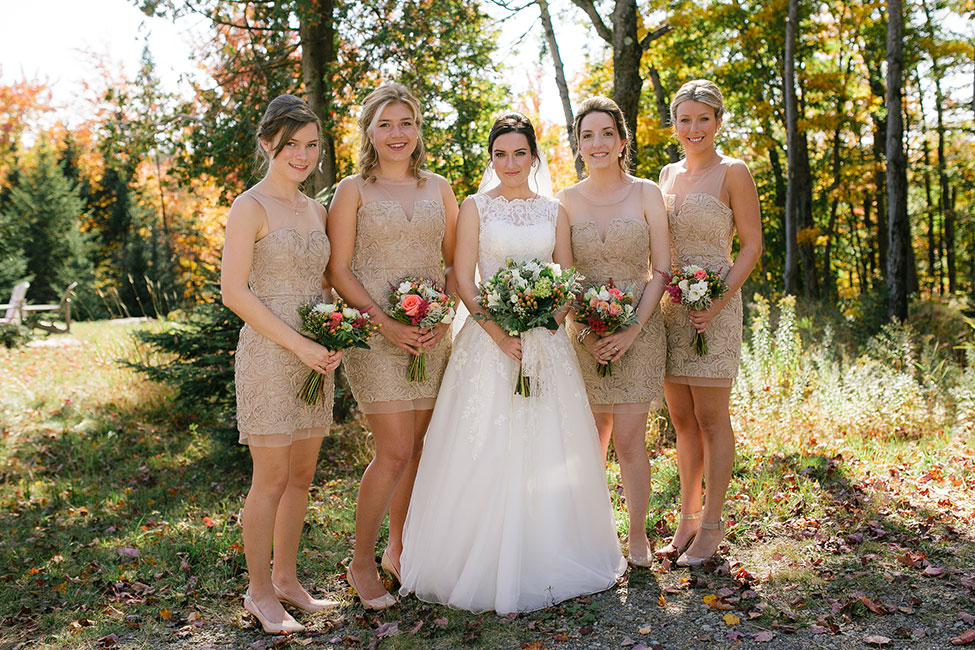 Vintage Chic Fall Quebec Wedding At Fiddler Lake Resort | Photograph by Sonia Bourdon Photography  See The Full Story At https://storyboardwedding.com/vintage-chic-fall-quebec-wedding-fiddler-lake-resort/