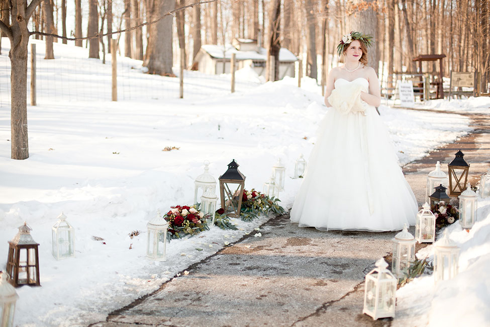 Rustic Chic Outdoor Winter Wedding In Kensington Park Michigan  | Photograph by Spencer Studios See The Full Story at http://storyboardwedding.com/rustic-chic-outdoor-winter-wedding-kensington-park-michigan/
