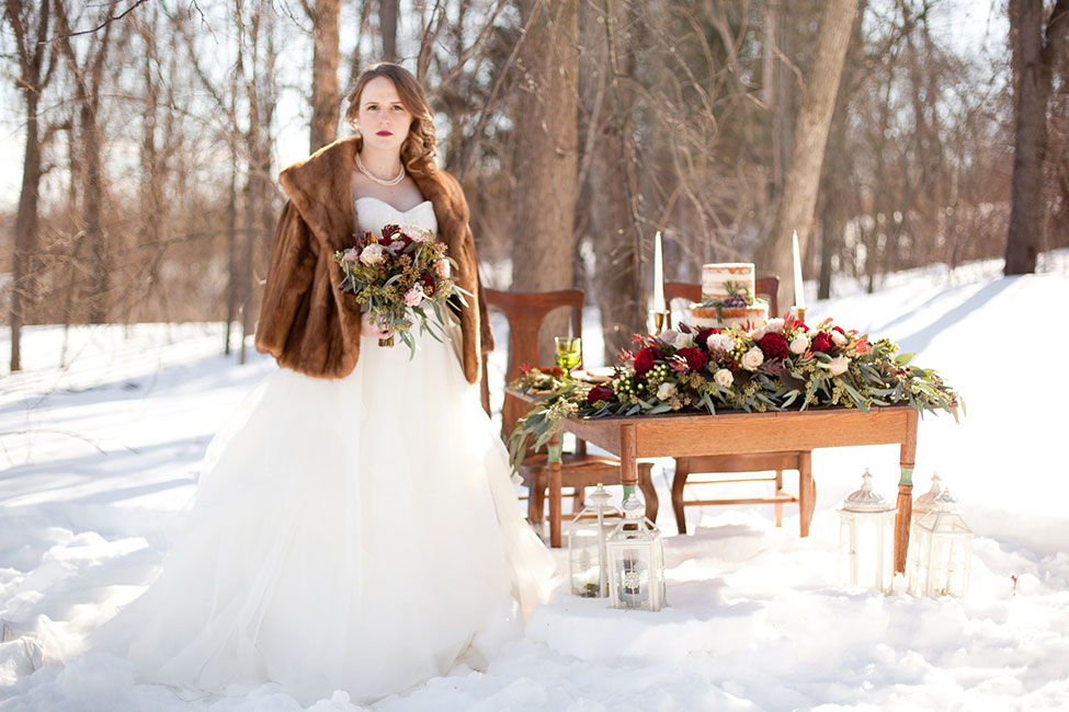 Rustic Chic Outdoor Winter Wedding In Kensington Park Michigan Photograph By Spencer Studios See The