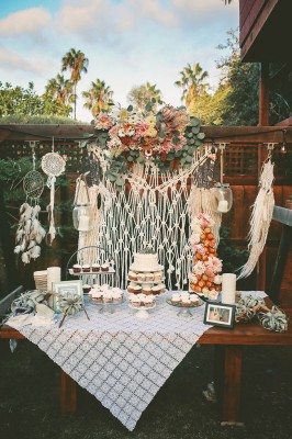 A Truly SoCal Backyard Wedding With Skater Boho Spirit | Photograph by Chris Wodjak Photography See The Full Story at http://storyboardwedding.com/socal-backyard-wedding-skater-boho/
