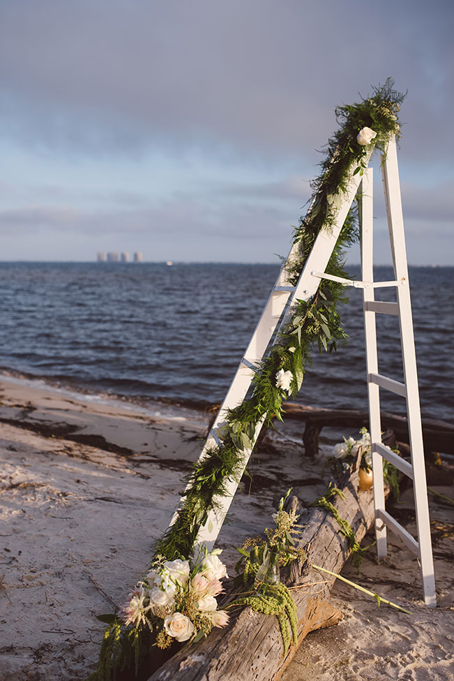 Ship Wrecked Inspired Romantic Styled Beach Engagement Session Along The Florida Shoreline