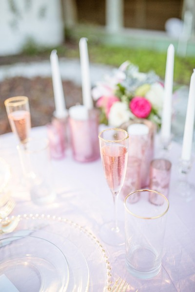 Valentine's Day Infused Sunset Beach Rose Quartz Wedding | Photograph by Kristi Midgette Photography  See the full story at http://storyboardwedding.com/sunset-beach-rose-quartz-wedding/