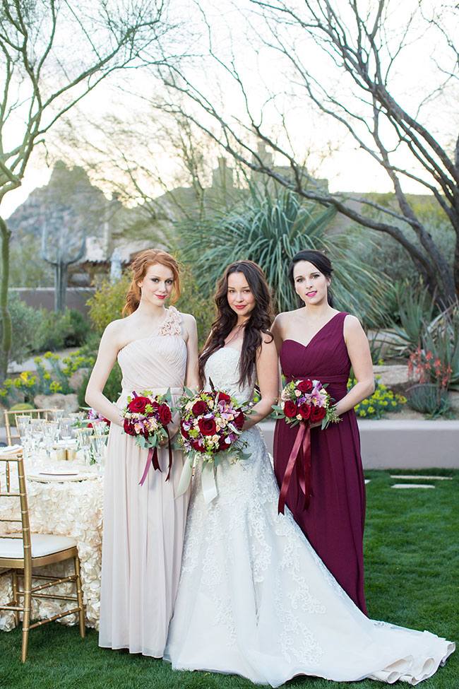 Luxury Marsala Wedding At Four Seasons Resort Scottsdale at Troon North | Photograph by Jennifer Wagner  See The Full Story at http://storyboardwedding.com/luxury-marsala-wedding-four-seasons-resort-scottsdale-troon-north/