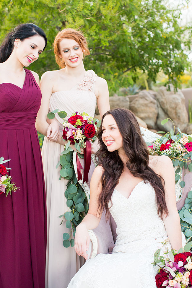 Luxury Marsala Wedding At Four Seasons Resort Scottsdale at Troon North | Photograph by Jennifer Wagner  See The Full Story at https://storyboardwedding.com/luxury-marsala-wedding-four-seasons-resort-scottsdale-troon-north/