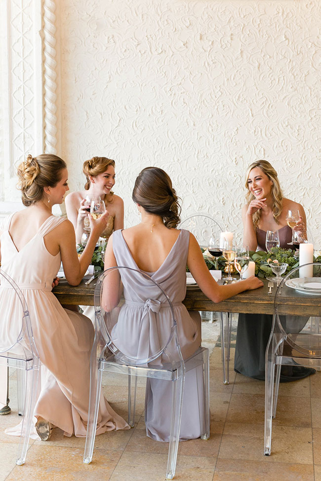 Altar Ego Mix Match Brideside Bridesmaid Dresses With Convertible Options | Photograph by Emilia Jane Photography  See the full story at http://storyboardwedding.com/altar-ego-mix-match-brideside-bridesmaid-dresses-convertible/