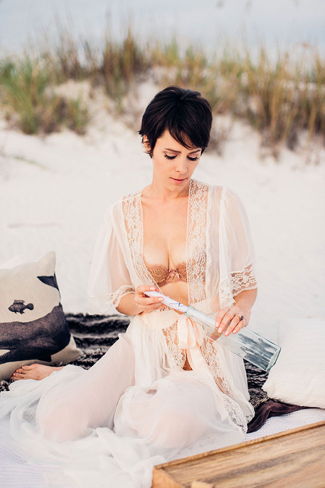 Sugar Sand Filled Romantic Gulf Coast Beach Boudoir | Photograph by Remnant Boudoir  See The Full Story at http://storyboardwedding.com/romantic-gulf-coast-beach-boudoir