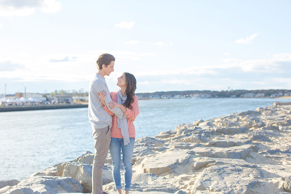 Pastel Summer Hued Cruiser Bicycle Beach Engagement Session In Manasquan | Photograph by Tina Elizabeth Photography