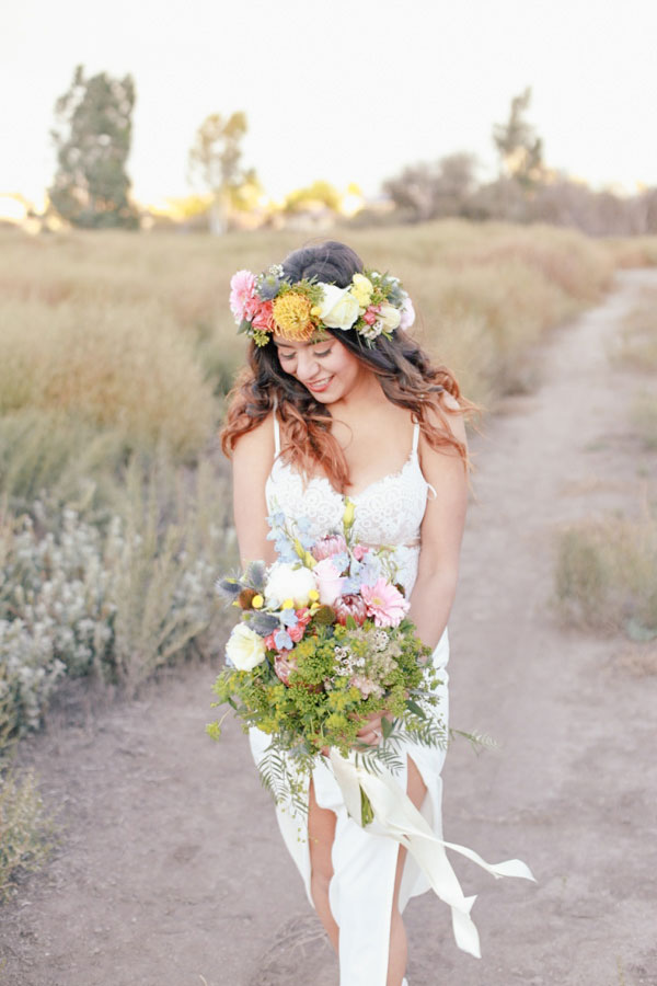 Whimsical & Relaxed Bohemian Wedding At Murrieta Wine Field California | Photograph by Elle Lily Photography  See The Full Story at https://storyboardwedding.com/bohemian-wedding-murrieta-wine-field-california/