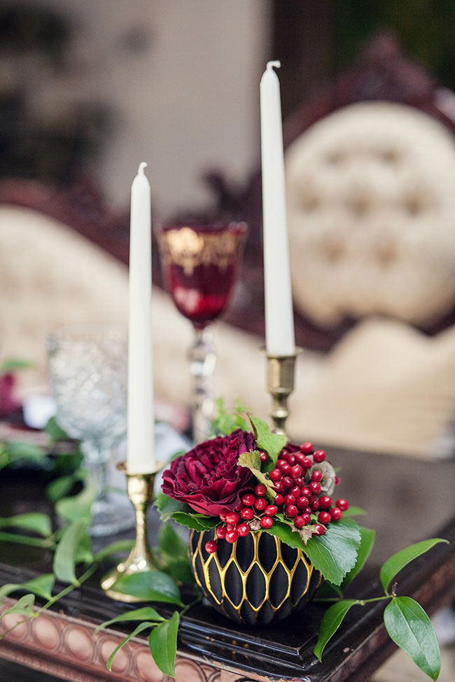 Dark & Dreamy Same Sex Geometric Wedding With Serious Estate Glamour | Photograph by Kristina Lee Photography  See The Full Story at https://storyboardwedding.com/same-sex-geometric-wedding-estate-glamour/