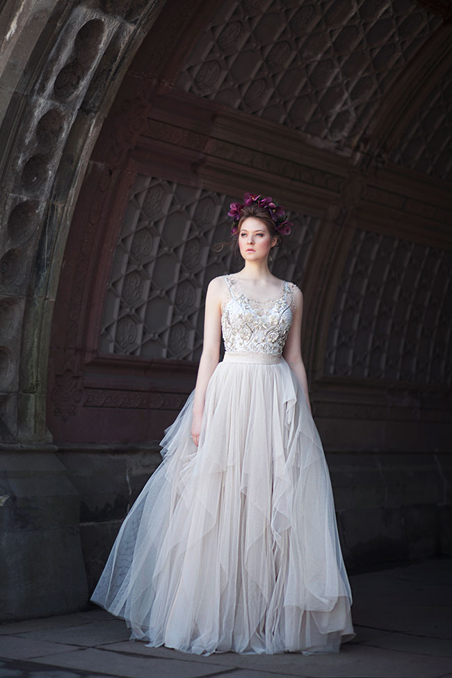 art nouveau wedding dress. gorgeously moody bridal style inspired by art nouveau wedding dress e