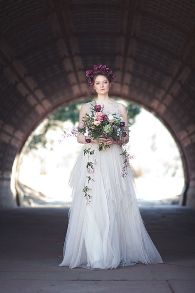 Gorgeously Moody Bridal Style Inspired By 'La Primavere' by Alphonse Mucha | Photograph by Claudia McDade  See The Full Story at http://storyboardwedding.com/moody-bridal-style-la-primavere-alphonse-mucha/