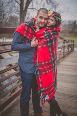Outdoor Camping Inspired Woods Engagement Session Along The Ice Age National Scenic Trail | Photograph by McNiel Photography  See The Full Story at http://storyboardwedding.com/outdoor-camping-woods-engagement/