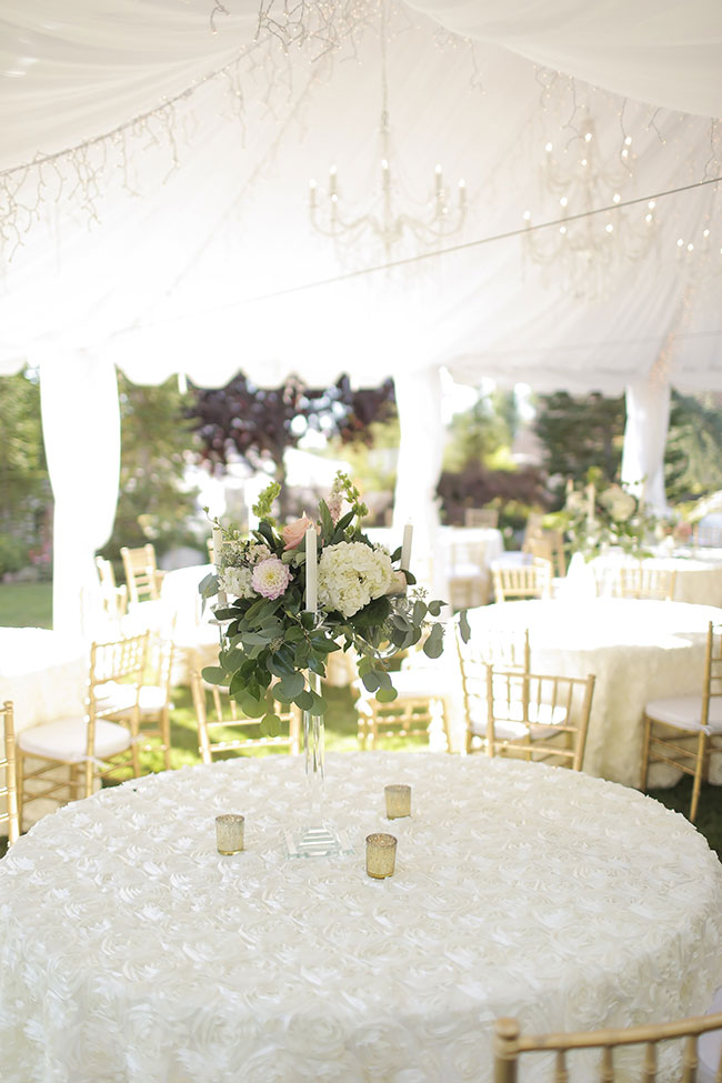 Garden Chic Tented Utah Wedding Pale Pink Tones | Photograph by Pepper Nix Photography  See The Full Story at http://storyboardwedding.com/garden-chic-tented-utah-wedding/