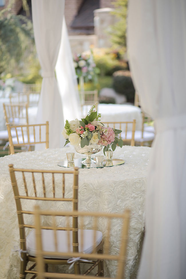 Garden Chic Tented Utah Wedding Pale Pink Tones | Photograph by Pepper Nix Photography  See The Full Story at https://storyboardwedding.com/garden-chic-tented-utah-wedding/